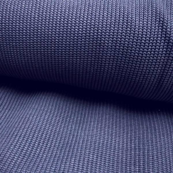 Bilde av Grovstrikk, bomull - dusblå