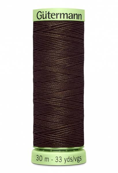 Bilde av Knapphullstråd - 30m - fv. 696 - kald mørk brun