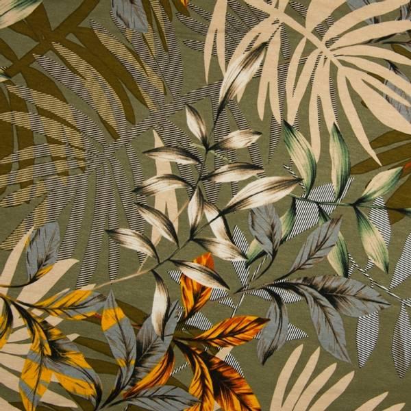 Bilde av Viskosejersey - 30 cm kvister & blader på oliven