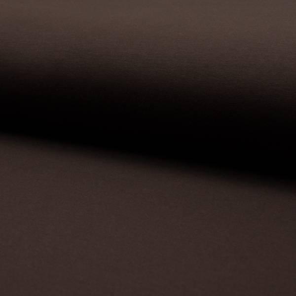 Bilde av French Terry ensfarget - mørk brun