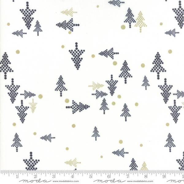 Bilde av 50 cm White Christmas metallic - 3 cm juletre på offwhite