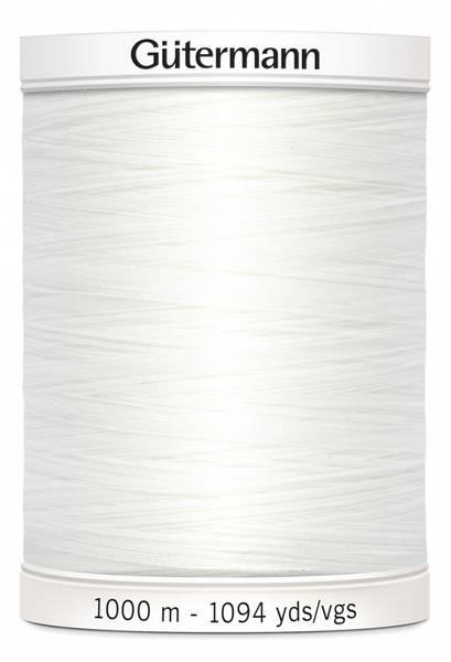 Bilde av Sytråd Gütermann 1000 m polyester - 800 - hvit