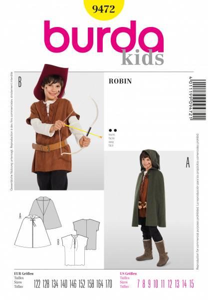 Bilde av 9472 - Burda - Robin kostyme