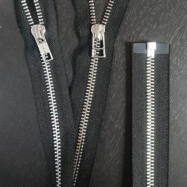 Bilde av Metall glidelås, delbar, sort, aluminium