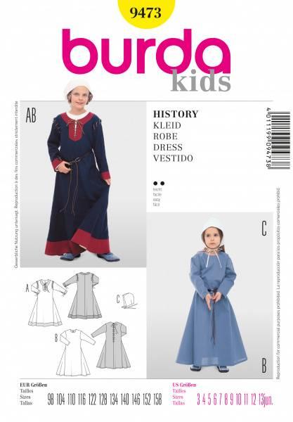Bilde av 9473 - Burda - Historisk Kjole kostyme