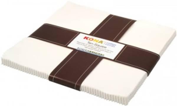 Bilde av Layer Cake - Ten Squares - Kona Cotton Snow - egghvit