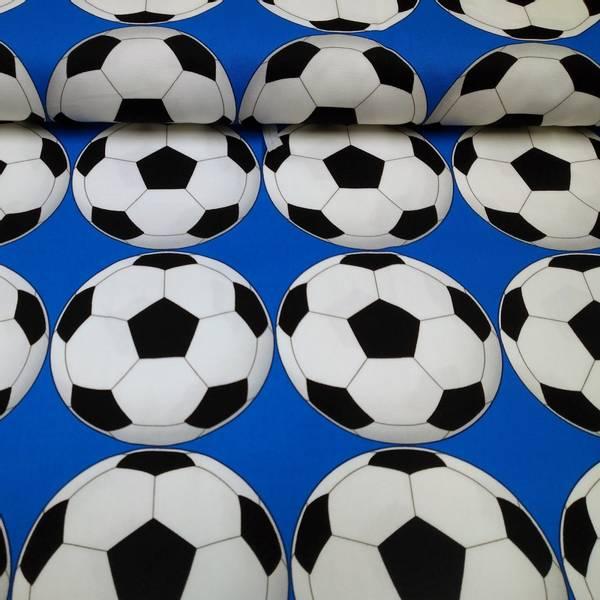 Bilde av Kraftig bomull - 12 cm fotball på blå