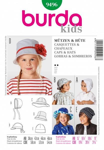 Bilde av 9496 - Burda - Caps og hatt