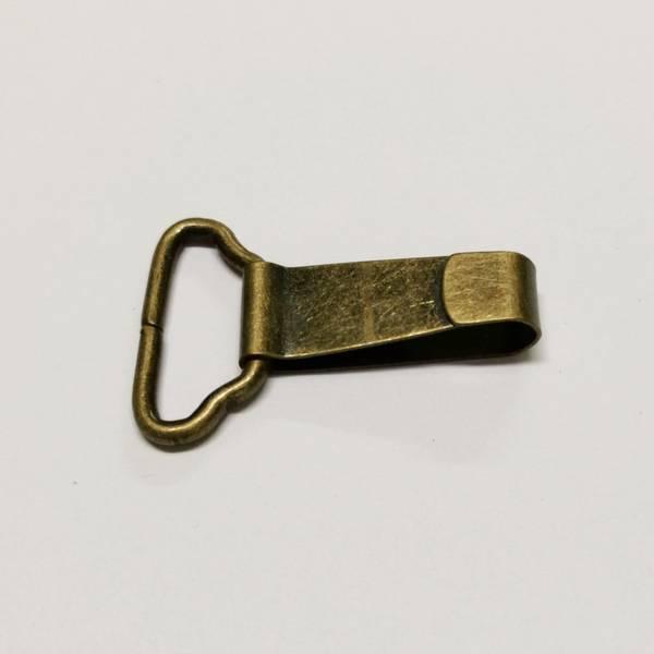 Bilde av Veskelås - karabinkrok, bronze, 4,5cm lang