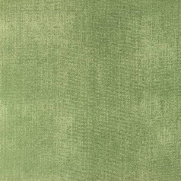 Bilde av Bomullsjersey - jeanstrykk - dus grønn