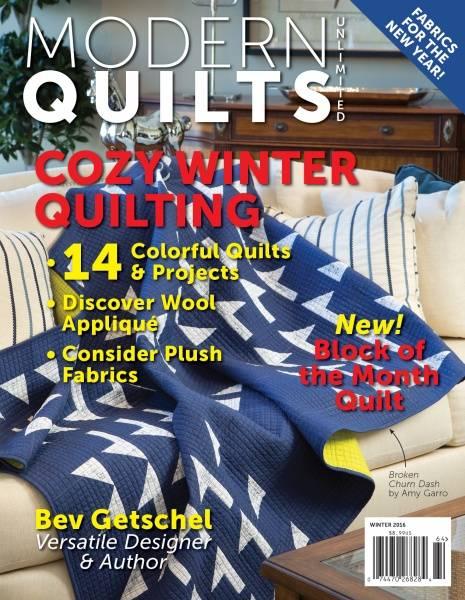 Bilde av Modern Quilts Unlimited - vinter 2016