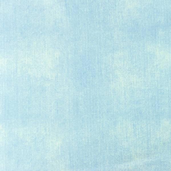 Bilde av Bomullsjersey - jeanstrykk - lysblå