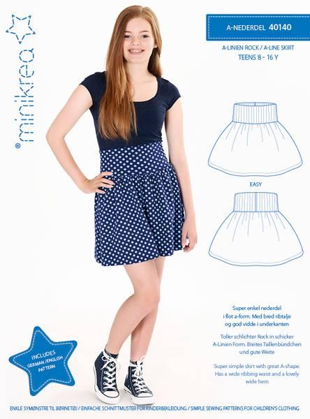 Bilde av Minikrea 40140 - skjørt/A-nederdel 8-16 år