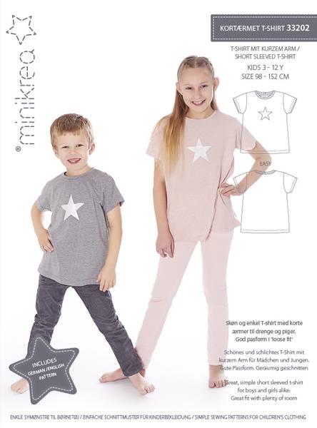 Bilde av Minikrea 33202 - kortermet t-skjorte med variasjoner 3-12 år