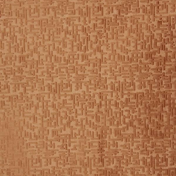 Bilde av 1,55 m Annabelle - velour med 1 cm preget grafisk mønster, rust