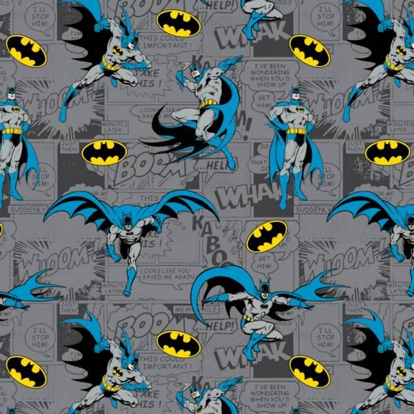 Bilde av Flanell - Batman på grå tegneserie