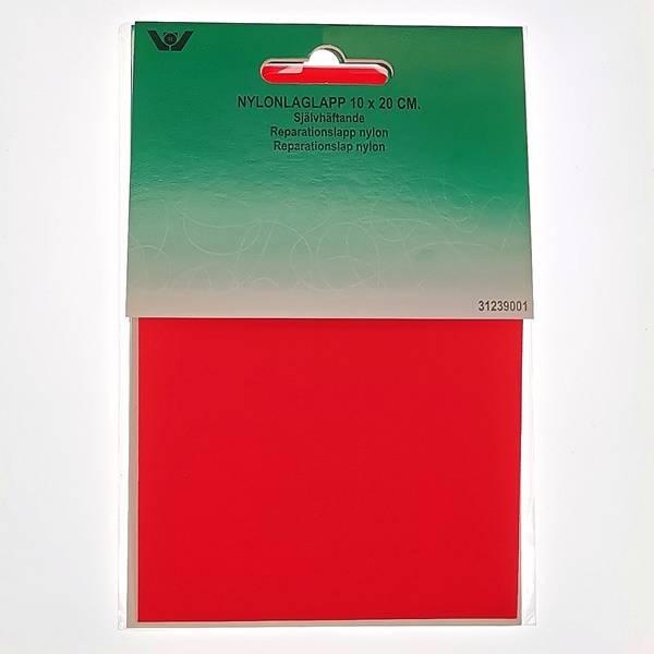 Bilde av Reparaturlapper - selvklebende - nylon, 10 x 20 cm stor, rød