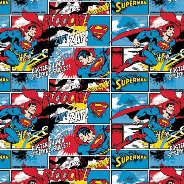 Bilde av Flanell - Superman på tegneserie