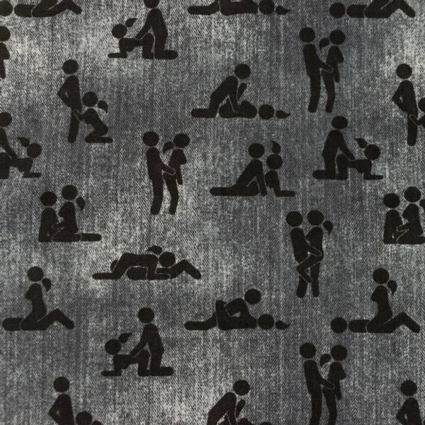 Bilde av Bomullsjersey - Kamasutra - jeansgrå