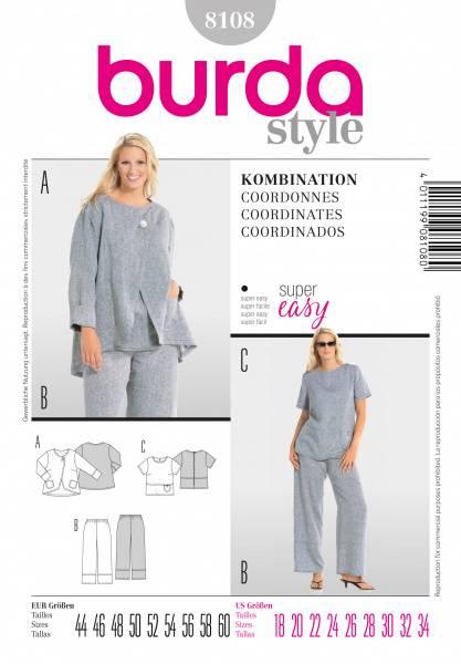 Bilde av 8108 - Burda - Kombinasjon - bukse, overdel, jakke