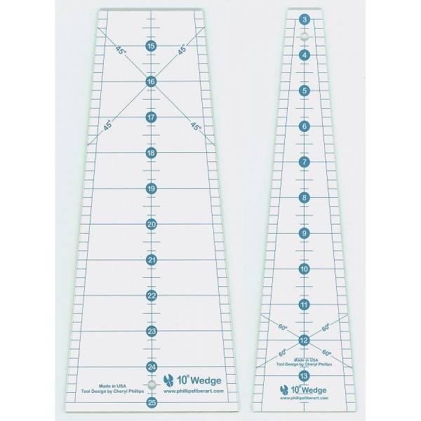 Bilde av Two Piece 10 Degree Wedge Quilting Ruler