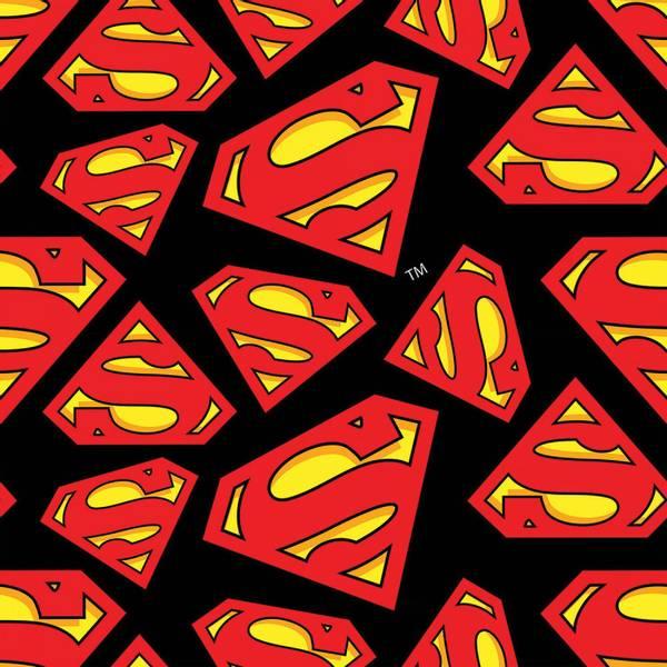 Bilde av Flanell - 5-7 cm Superman Logo