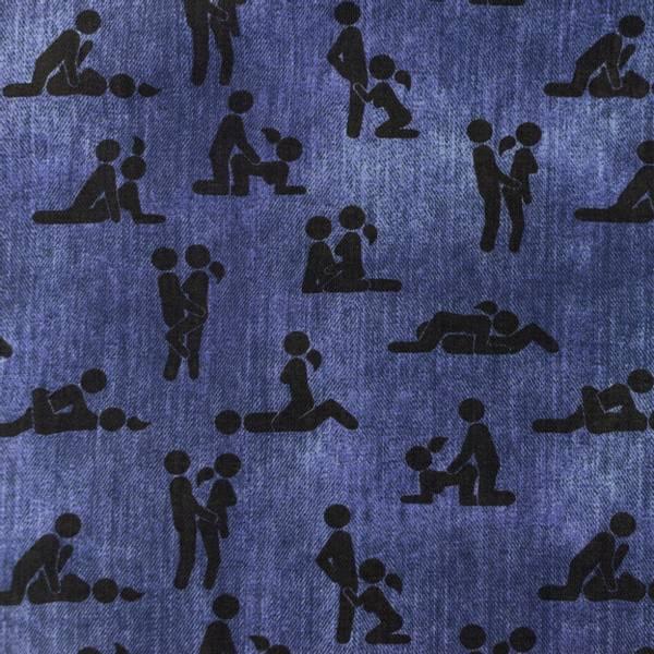 Bilde av Bomullsjersey - Kamasutra - jeansblå