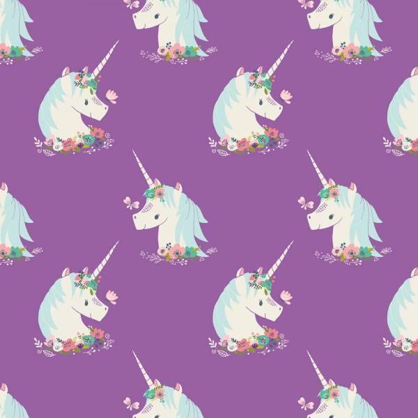 Bilde av I believe in Unicorns - 5 cm enhørning på lilla