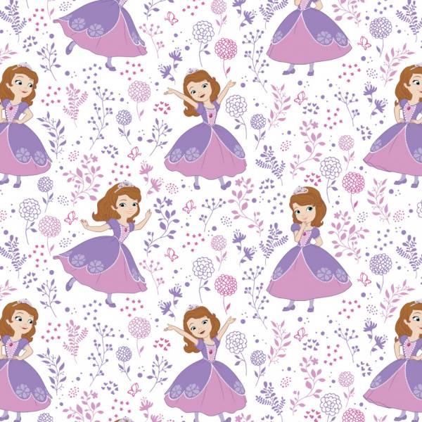 Bilde av Sofia the first - 10 cm lilla-rosa jente på hvit