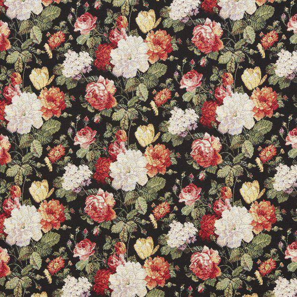 Bilde av Gobelin Valentina - 3-6 cm blomster på sort bakgrunn