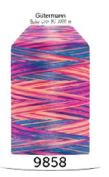 Bilde av Bulky-Lock 80, fv. 9858, rosa-blå-fersken multifarget