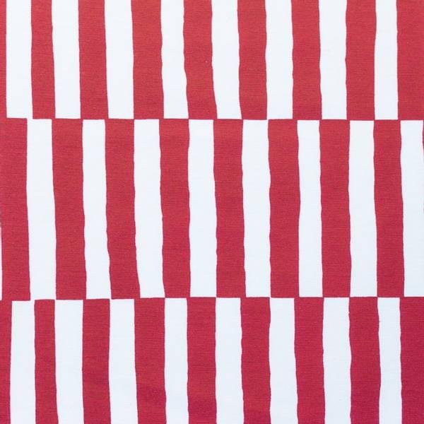 Bilde av Kanvas - 1,5*10 cm rød-offwhite striper