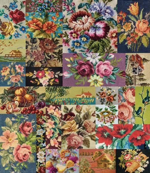 Bilde av Flea Market Moxie - broderte blomsterbilder