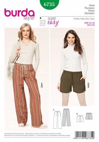 Bilde av 6735 - Burda - bukse, shorts