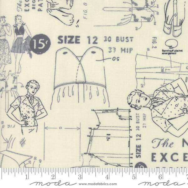 Bilde av Modern BG More Paper - grå vintage symønster på offwhite, 6-8 cm