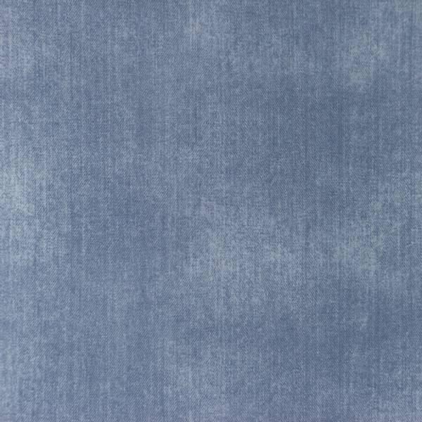 Bilde av Bomullsjersey - jeanstrykk - blå