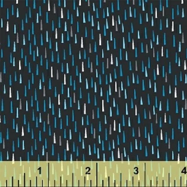 Bilde av Sprinkle - 1x5 mm blå-turkise streker på sort