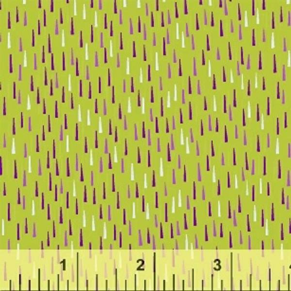Bilde av Sprinkle - 1x5 mm lilla-hvite streker på vårgrønn