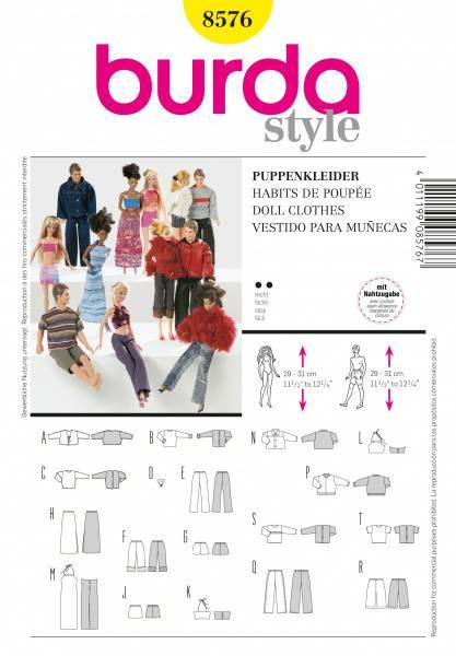 Bilde av 8576 - Burda - barbie & ken - dukketøy