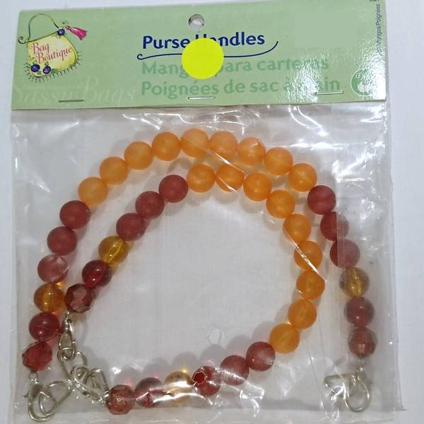 Bilde av Prym-Dritz Bag Boutique - veskehåndtak, rød-oransje perler