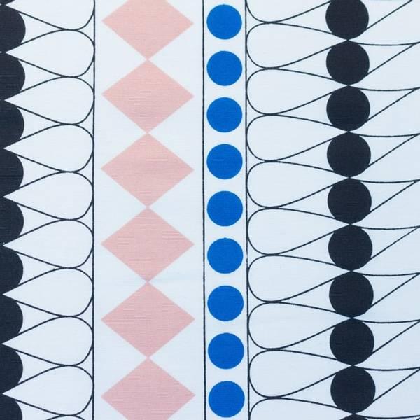 Bilde av Kanvas - Wyber - 3 cm sorte prikker, mønstret på offwhite