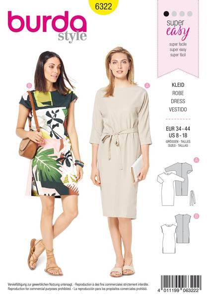 Bilde av 6322 - Burda - kjole, enkelt