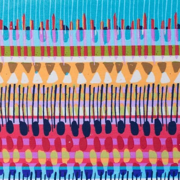 Bilde av Kanvas - flerfargete abstrakte rader
