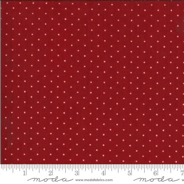 Bilde av American Gatherings - 3 mm offwhite stjerner på rød
