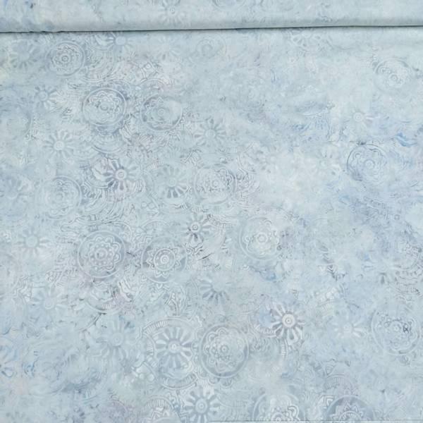Bilde av Seashell - lysblå 7 cm mønstrete sirkler