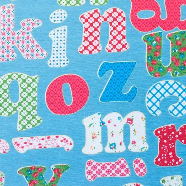 Bilde av Kanvas - 6-8 cm bokstaver på blågrå