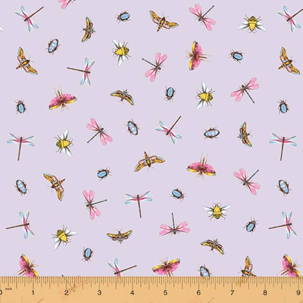 Bilde av Greenhouse - 1-2 cm insekter, libeller, bugs på lyslilla