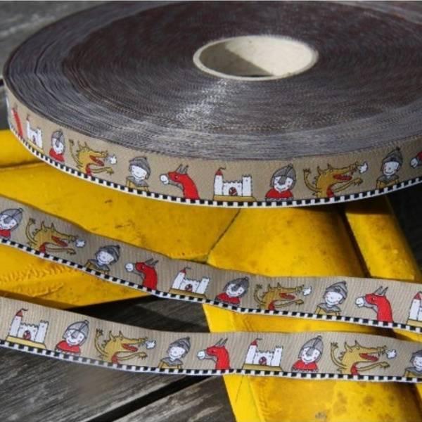 Bilde av 1,2 m Farbenmix - 15 mm bred bånd, ridder & borg