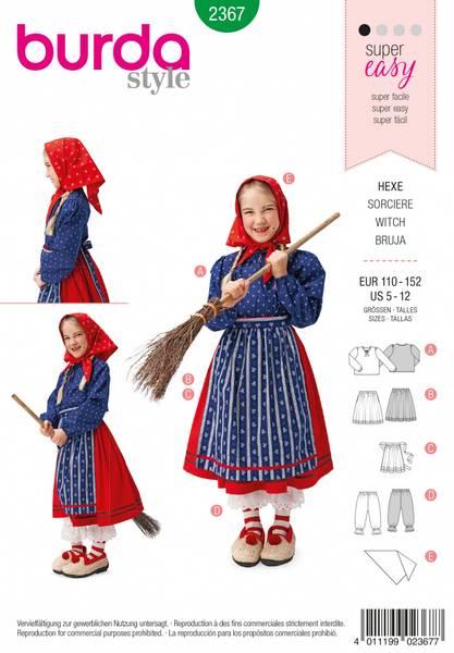 Bilde av 2367 - Burda - kostymer, heks, barn