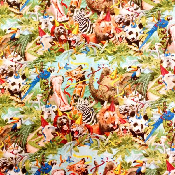 Bilde av Elefant, løve o.l. - Flerfargede dyr i jungel, 20cm rapport